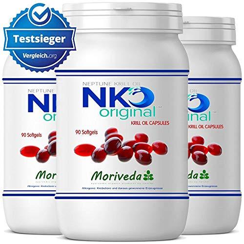 NKO Krillöl Kapseln (Testsieger) 30, 90 oder 270 Stk. in Apothekenqualität - Omega 3,6,9 Astaxanthin, Vitamin E, Choline, Phospholipide, Krill Öl (270 Softgels)