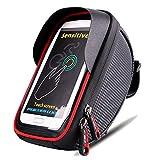 LBWNB Bike-Frame Bag-Bike Pannier Top Tube Wasserdichte Handlebar Taschen, Bike Pouch Phone Holder, Fahrradtasche Touch Screen für Smart Phone unter 6 Zoll