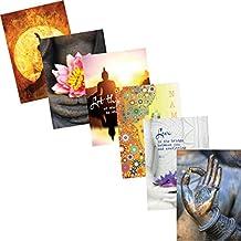 Poster Wand Decor Geschenk wowdecor Art Wand 5/teilig Leinwand Prints mehrere Bilder/ S ungerahmt /Buddha /& Wei/ß Blumen Gicl/ée-Bilder Gem/älde auf Leinwand gedruckt