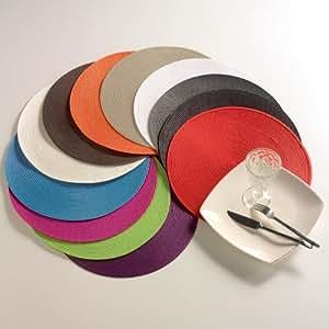 Set de table rond GALAXIE coloris ROUGE
