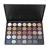 Paleta de sombras de ojos Pro 35colores impermeables de Frola, maquillaje, incluye paleta de colores cálidos, mate y brillantes