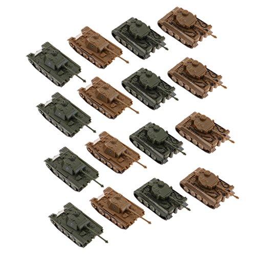 MagiDeal 16er-Set 1:144 Action Figur Armee Kampf Spiel Spielzeug Panzer Zubehör Spielset (Armee Spielzeug-panzer)