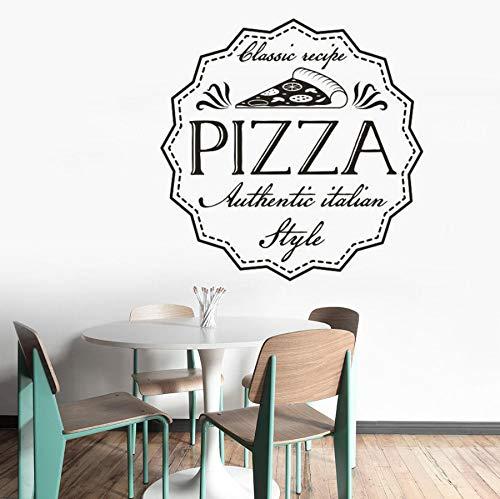 epte Wandaufkleber Italienischen Stil Pizza Wandkunst Poster Removable Restaurant Pizzeria Fenster Wandbild 42X42 CM ()