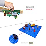 BreoLife Baseplates (4 pieces of 10 x 10), Works with Major Brick Building Sets, Wonderful Plate for Kids (Green)