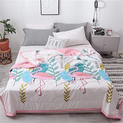 DANANGUA Eleganter Stil Weichen Leopardenmuster Farbe Blasen Sommer Quilt Tagesdecke Decke Tröster Bettdecke Twin Voller Queen Quilten (Color : Color13, Size : 200x230cm)