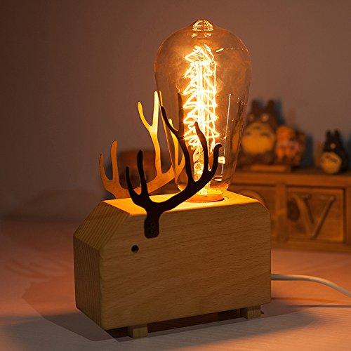QIANGUANG® Moderno Art Decoración De madera Adular Elefante Ballena Animal Regulable Escritorio...