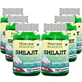 Morpheme Remedies Shilajit 500 mg Extract Supplements (60 Capsules, Pack of 6)
