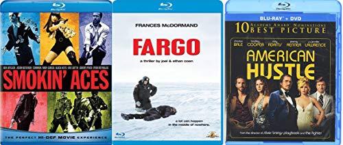 American Con Action 3 Pack Smokin' Aces Blu Ray Fargo + American Hustle Triple Feature MovieBundle