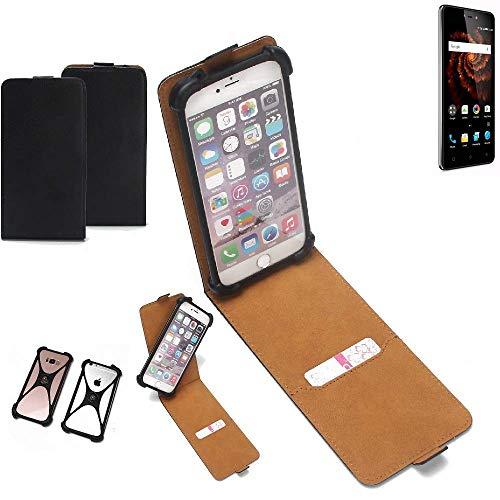 K-S-Trade Flipstyle Hülle Allview X3 Soul Lite Handyhülle Schutzhülle Tasche Handytasche Case Schutz Hülle + integrierter Bumper Kameraschutz, schwarz (1x)