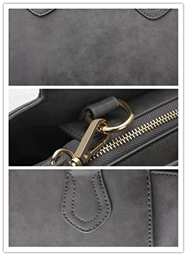 HQYSS Damen-handtaschen Große Kapazitäts-PU-lederne Nubuck Schulter-Kurier-Beutel-Handtaschen-Multifunktionsklassische justierbare Tote-Beutel deep gray