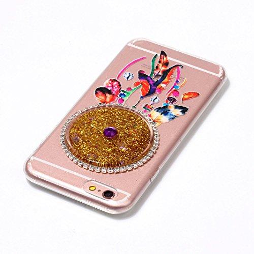 Housse iPhone 7 OuDu Étui en Glitter Silicone Attrapeur de Rêves Coloré [Housse de Flottant][Pas de Fuite] Coque Transparente Flexible Mince **NEW** Housse Sable Mouvant Bling Étui TPU de Haute Qualit Attrapeur de Rêves Coloré #4