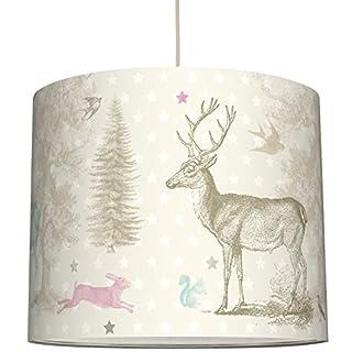 anna wand Lampenschirm FOREST ANIMALS - Schirm für Kinder/Baby Lampe mit Tieren aus dem Wald in versch. Farben – Sanftes Licht für Tisch-, Steh- & Hängelampe im Kinderzimmer Mädchen & Junge