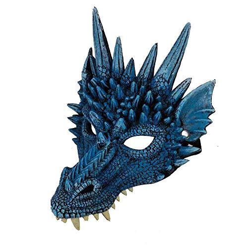 Beängstigend Kostüm Adult Spinne - WTNL Halloween Maske Tierkopf Maske Maskerade Adult Party Kostüm Halbmaske Maskerade Maske Halloween Maske,Blue,Blue