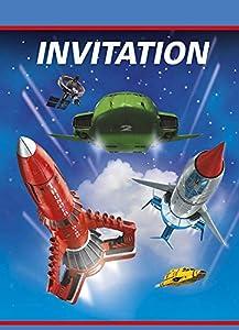 Unique Party Tarjetas de los Thunderbirds-invitación para la Fiesta, Paquete de 8