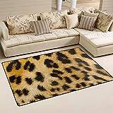 MONTOJ Pelle di Leopardo Shoe Scraper Mat Area Rugs Super Morbido Tappetino per Soggiorno Camera da Letto casa Decorazione Tappeto, Poliestere, 1, 60 x 39 inch