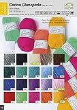 Wollpaket bunt 20x50g Rellana Carina Glanzperle gemischte Farben jeweils 1x 50g Knäuel pro Farbe Wolle Paket zum Häkeln Stricken Basteln, Häkelwolle, Strickwolle, Bastelwolle