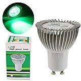 GreenSun LED Lighting 4 Pack GU10 3W LED Spotlight Bulbs 220V Green Colour Recessed Lighting, Track Lighting, LED Light Bulbs