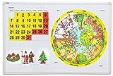 Betzold Magnettafel: Unser Jahr, Kalender, Jahreszeiten, Jahreskreis, 1 Bedruckte Stahltafel 90 cm x 60 cm, Viel Zubehör, Kinder Lehrmittel Zeiten
