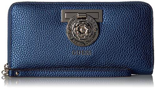 Guess Damen Large Zip Around Wallet Marlene Midnight, große Brieftasche mit umlaufendem Reißverschluss, Einheitsgröße -