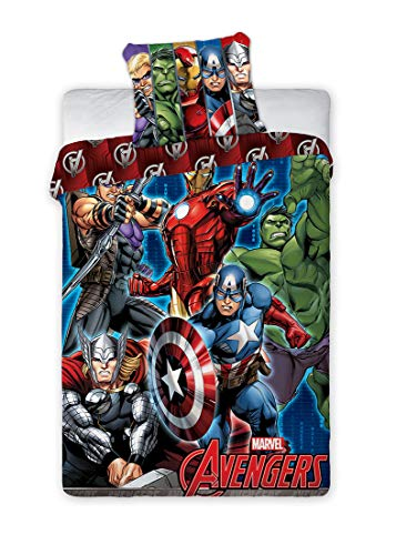 BrandMac Avengers Marvel Bettwäsche 200 x 135, 80 x 80 100{e35262d4d77ec68365d399eb87df1c0dc24f0217c434401733831c166e2d46f7} Baumwolle