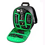 J DSLR SLR Backpack Camera Lens Shoulder Case for Canon Nikon Sigma Olympus Camera Green