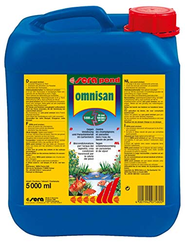 sera 07580 pond omnisan F in 5 Liter für 100.000 Liter - Arzneimittel für Teichzierfische mit Breitbandwirkung gegen Verpilzungen und Parasitenbefall