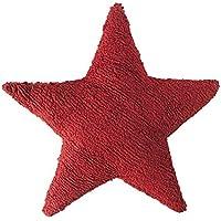 Cojín de estrella rojo