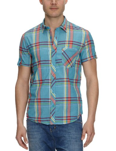 Tom Tailor - Chemise Checked - Homme Turquoise (6307)
