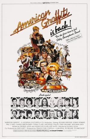 AMERICAN GRAFFITI - HARRISON FORD – Imported Movie Wall Poster Print – 30CM X 43CM (American Ford Graffiti Harrison)