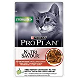 Pro Plan Purina Cat Nassfutter Sterilised Rind, 24er Pack (24 x 85 g)