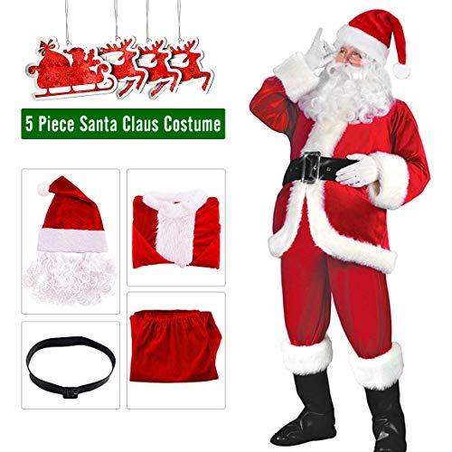 Kostüm Weihnachtsmann Ziel - Make you perfect Herren weihnachtsmann-kostüm weihnachtskostüm weihnachts suitwith weihnachtsmütze einheitsgröße rot