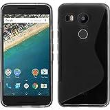 PhoneNatic Custodia Compatibile con Google Nexus 5X Cover Grigio S-Style Nexus 5X in Silicone + Pellicola Protettiva