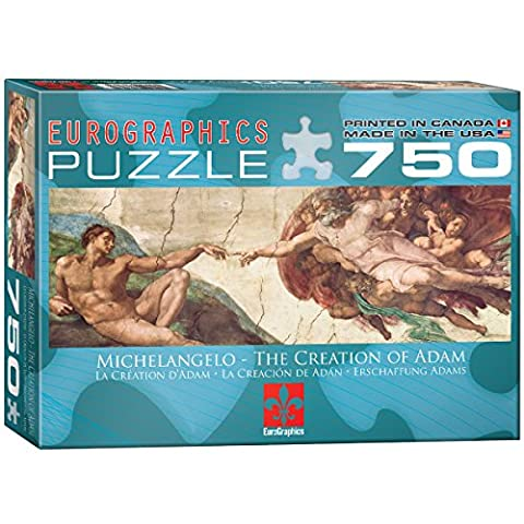 Eurographics Creation of Adam by Michelangelo Puzzle (750 Pieces)