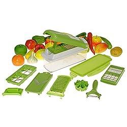 Bulfyss Multifunction Kitchen Grater, Cutter, Peeler, Slicer, Chopper, Dicer, & Zester - One Step Precision Cutting