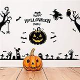 YCRD Wandaufkleber Halloween 3D Wasserdichtes Wand-DIY-Layout Abnehmbare Wohnzimmer Schlafzimmer Hintergrund Dekoration,Pumpkin(B)