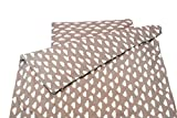 1buy3 Kinderbettwäsche 2-tlg. 100x135 + 40x60 cm aus 100% Baumwolle mit jeweils einem Reißverschluss - Wolken grau | Babybettwäsche | Bettwäsche | Bettgarnitur