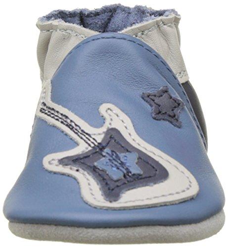 Robeez Baby Jungen Superstar Rock Krabbel-& Hausschuhe Blau (Bleu)