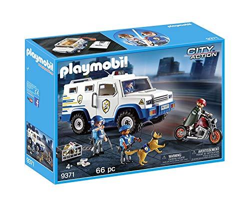 Outletdelocio. Playmobil 9371. Furgon Blindado Transporte de Dinero y Oro. Incluye Figuras policias y ladron. Set de 66 Piezas