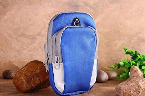 Tragbar Leicht Sportarmband Handytasche Tasche Wristlet für Gym Outdoor Sport Blau