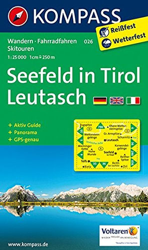 Preisvergleich Produktbild Seefeld in Tirol,  Leutasch: Wandern / Rad / Langlauf. Mit Panorama. GPS-genau. 1:25.000