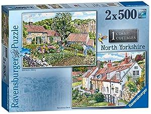 Ravensburger Cosy Cottages No. 1 - Rompecabezas de Yorkshire del Norte, 2 x 500 Piezas