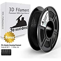 TPU Filament - 3D Printer Filament TPU Black Fexible Filament 0.5kg(1.1lbs) Spool, Dimensional Accuracy +/- 0.02 mm, Stable Diameter,Hardness 95A