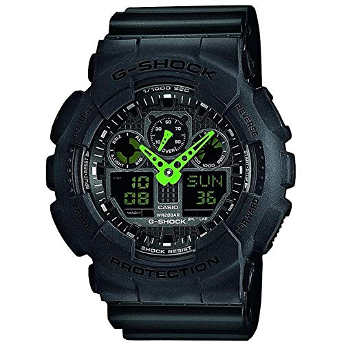 Casio G-SHOCK Reloj Analógico-Digital, 20 BAR, Negro, para Hombre, GA-100C-1A3ER