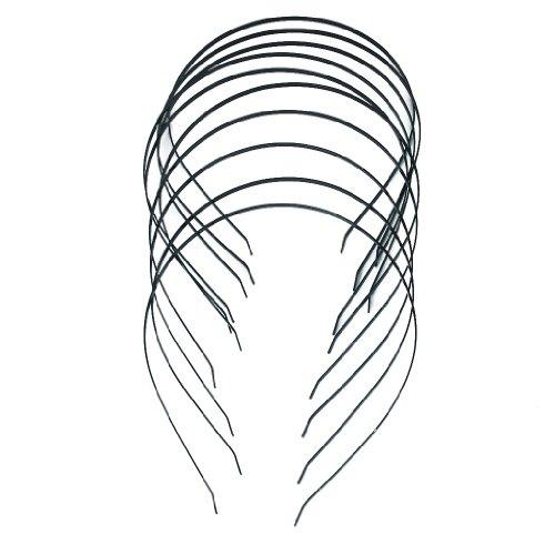 10er Stirnbänder Metall Haarband Haarreif Haarband DIY Zubehör 3mm
