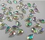 300pcs/bolsa transparente AB piedras acrílicas coser Gems para vestido artesanía DIY Strass cristal 8x 13mm piedras y cristales