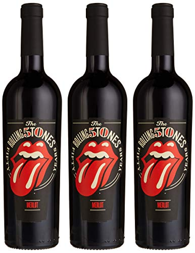 Rolling Stones Forty Licks Merlot 2017 Merlot Lieblich, (3 x 0.75 l)