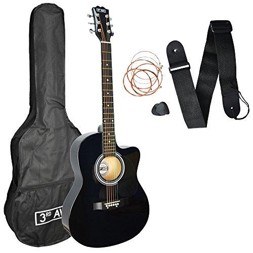 3rd Avenue Cutaway Acoustic Guitar Beginner Pack - Black
