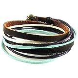 Jirong weichem Leder Multicolour Ropes Frauen Leder-Armband Women Wrap Armreif SL2284