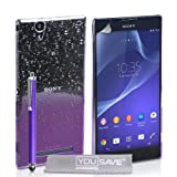 Yousave Accessories Sony Xperia T2 Ultra Hülle Violett /