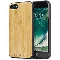 Cover iPhone 7, Snugg Apple iPhone 7 Custodia Case [Vero Legno] TPU Ultra-Slim Protettiva Pelle - Bambù